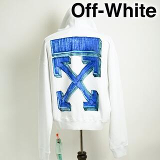 オフホワイト(OFF-WHITE)の新品 Off-White Marker Pen Arrows hoodie 白(パーカー)