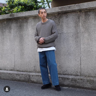 URU / CREW NECK OVER KNIT