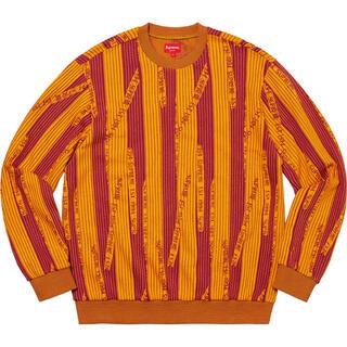 シュプリーム(Supreme)のsupreme textured stripe Crewneck スウェット(スウェット)