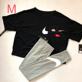 NIKE - Mセット クロップド Tシャツ  レギンス NIKE レディース  新品