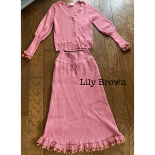 Lily Brown - 【着画あり】Lily Brown◆リブニット セットアップ