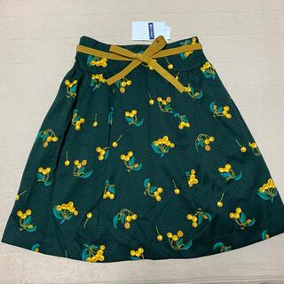 M'S GRACY - 新品☆ エムズグレイシーのさくらんぼ柄リボン付きスカート