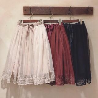 F i.n.t - Fi.n.t 裾刺繍チュールスカート