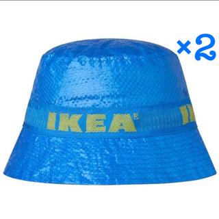 イケア(IKEA)のIKEA イケア渋谷限定 KNORVA(クノルヴァ) 帽子 ブルー新品2個セット(ハット)