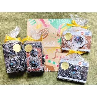 カルディ カメラ缶 チョコレート 4個セット バレンタイン KALDI 新品(菓子/デザート)