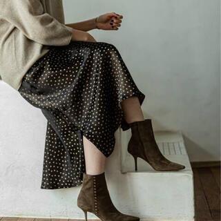 Noble - 美品 スクープヘムドットスカート