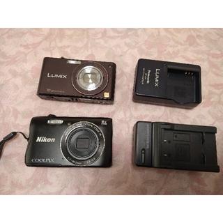 ニコン(Nikon)のデジカメ 2台セット Nikon COOLPIX   Panasonic(コンパクトデジタルカメラ)