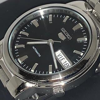 セイコー(SEIKO)の★セイコーSEIKO5フェイスバック☆スケルトン☆文字盤ブラック5文字浮き上がり(腕時計(アナログ))