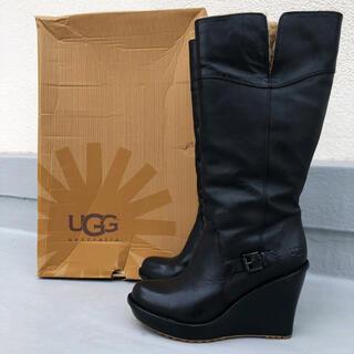 UGG - 最後1時間16800❤️美品・廃盤❤️UGG レザー ロングブーツ 25cm