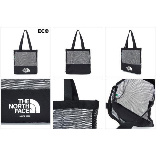 THE NORTH FACE(ザノースフェイス)の海外限定 ノースフェイス トートバッグ エコバッグ メッシュバッグ 黒 K12B レディースのバッグ(トートバッグ)の商品写真