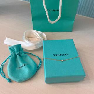 ティファニー(Tiffany & Co.)のティファニー バイザヤード 0.05ct イエローゴールドダイヤモンドネックレス(ネックレス)
