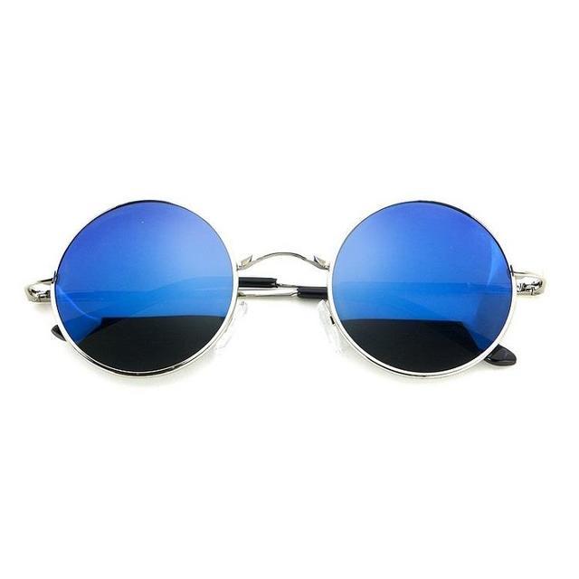 【即購入OK】 丸メガネ  ブルー レディースのファッション小物(サングラス/メガネ)の商品写真
