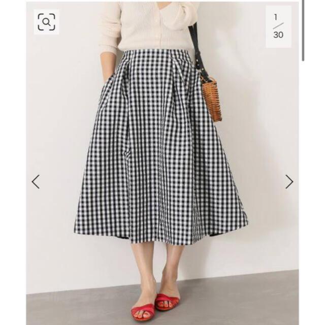 IENA(イエナ)の◆IENA◆ Pe/Coギンガムスカート レディースのスカート(ひざ丈スカート)の商品写真