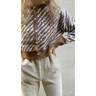 TODAYFUL - Lit. zebra short cardigan brown 未使用