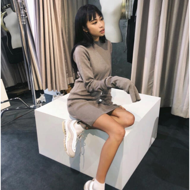 GYDA(ジェイダ)のJUEMI♡Pillingless Long Sleeve Knit Dress レディースのワンピース(ミニワンピース)の商品写真