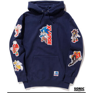 XLARGE - XLARGE x SONIC THE HEDGEHOG ソニック パーカー XL