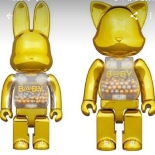 メディコムトイ(MEDICOM TOY)のMY FIRST NY@BRICK R@BBRICK Gold Ver セット!(キャラクターグッズ)