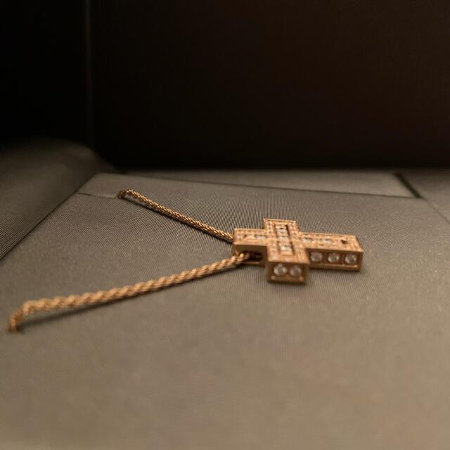 Damiani(ダミアーニ)のDAMIANIダミアーニベルエポック788ピンクゴールドクロス十字架ダイヤモンド レディースのアクセサリー(ネックレス)の商品写真