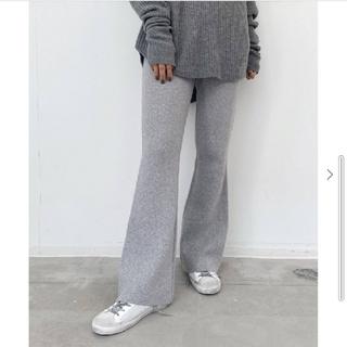 L'Appartement DEUXIEME CLASSE - L'Appartement Flare Knit Pants グレー 34