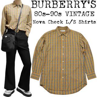 バーバリー(BURBERRY)の美品★BURBERRY★バーバリー★80s-90s★ノバチェックシャツ★キャメル(シャツ)