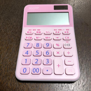 シャープ(SHARP)の電卓 ピンク(オフィス用品一般)