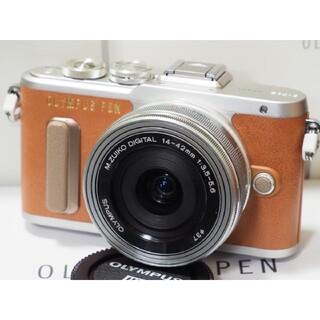 オリンパス(OLYMPUS)のオリンパスPEN E-PL8 14-42mmEZレンズセット美品!(ミラーレス一眼)