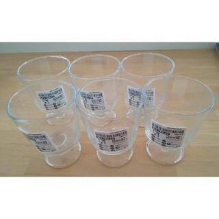 イケア(IKEA)のIKEA 365+ ゴブレット クリアガラス 6個セット ジャンク品C(グラス/カップ)