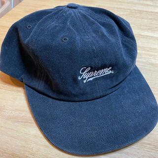 シュプリーム(Supreme)のSupreme twill script cap 黒(キャップ)