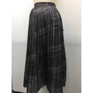 フレイアイディー(FRAY I.D)のFRAY ID チェックプリーツスカート 新品未使用タグ付き(ロングスカート)