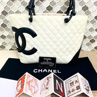 CHANEL - ✴︎正規品 美品 CHANEL * シャネル カンボントート トートバッグ 白