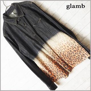 グラム(glamb)のglamb グラム グラデーション ヒョウ柄 デニム シャツ グランジ(シャツ)