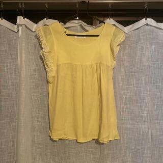 コーエン(coen)のインド フリル付きカットソー 黄色(カットソー(半袖/袖なし))