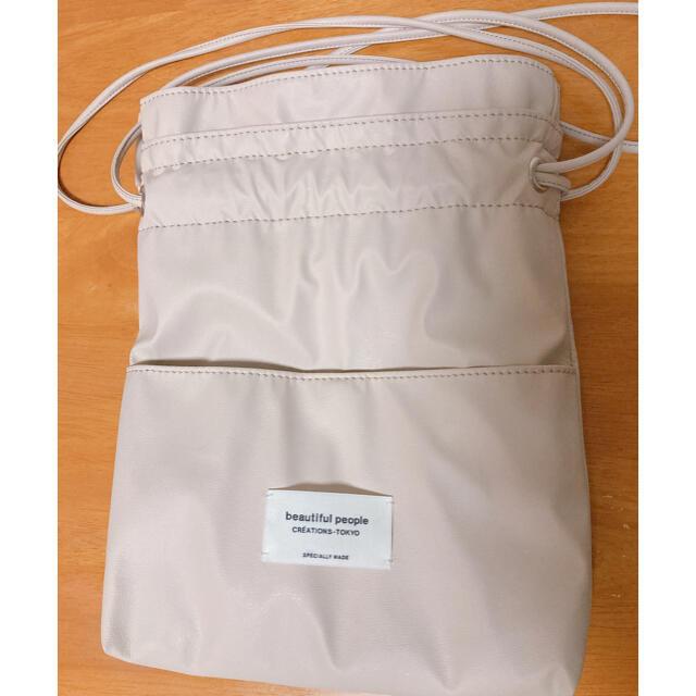 beautiful people(ビューティフルピープル)のbeautiful people×STUDIOUS 巾着ショルダーバッグ レディースのバッグ(ショルダーバッグ)の商品写真