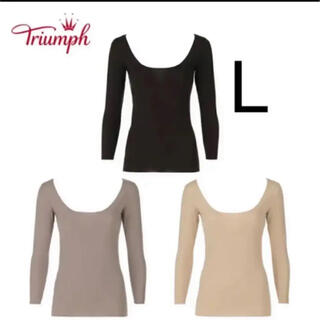 トリンプ(Triumph)のトリンプ 防寒インナー ブラック Lサイズ(アンダーシャツ/防寒インナー)