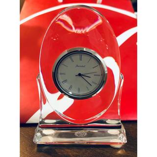 バカラ(Baccarat)のバカラ Baccarat pendulette (2) クリア置時計  稼働品(置時計)