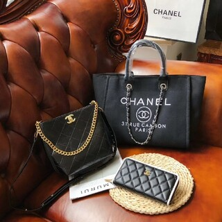 CHANEL - CHANEL  ショッピングバッグ/3点セット