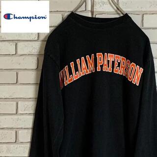 Champion - 90s 古着 チャンピオン フロントプリント カレッジTシャツ 刺繍ロゴ ロンT