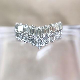 プラチナ製 1.0ct ダイヤモンド リング