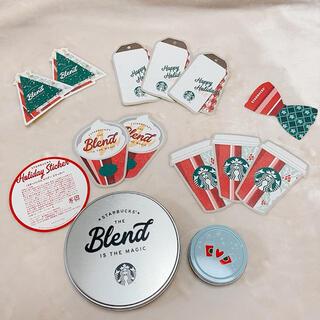 スターバックスコーヒー(Starbucks Coffee)のスタバ☆非売品缶2個セット☆(ノベルティグッズ)