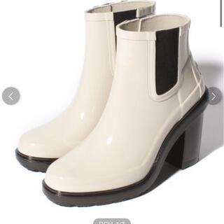 ハンター(HUNTER)のHUNTER ハンター レインブーツ ハイヒール ホワイト(レインブーツ/長靴)