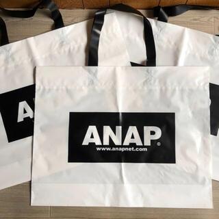 ANAP - 未使用 ANAP☆ロゴ ショップ袋 3枚 大 ショッパー アナップ