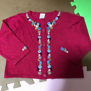 ジンボリー(GYMBOREE)のgymboree 赤い刺繍カーディガン(カーディガン)