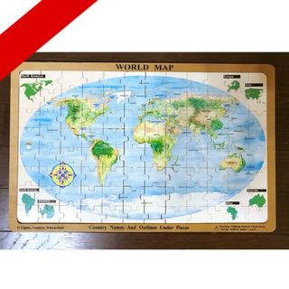 木製パズル「世界地図」Ages 6 and up(知育玩具)