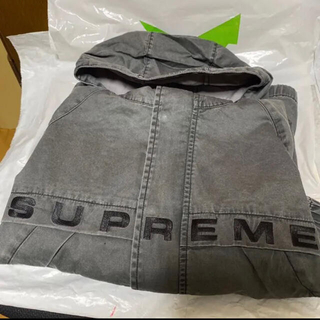 Supreme - Supreme overdyed twill hooded jacket
