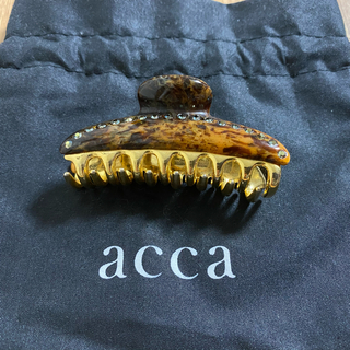 acca - acca アッカ ティアラクイーン マーブル 中 M クリップ バレッタ