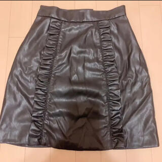 イートミー(EATME)のEATME レザーフリル台形ミニスカート(ミニスカート)