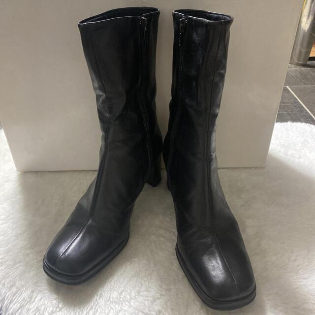REGAL(リーガル)のcarri fours ブーツ オールレザー 黒 ブラック レディースの靴/シューズ(ブーツ)の商品写真