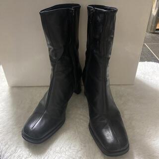 リーガル(REGAL)のcarri fours ブーツ オールレザー 黒 ブラック(ブーツ)