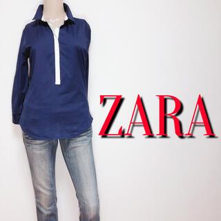 ZARA - いつでも♪ザラ カジュアル スリムストレッチシャツ♡フレイアイディー マウジー