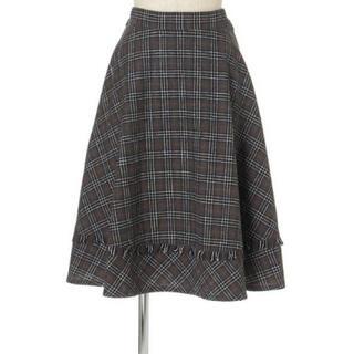F i.n.t - 裾切替チェックフレアースカート/F i.n.t